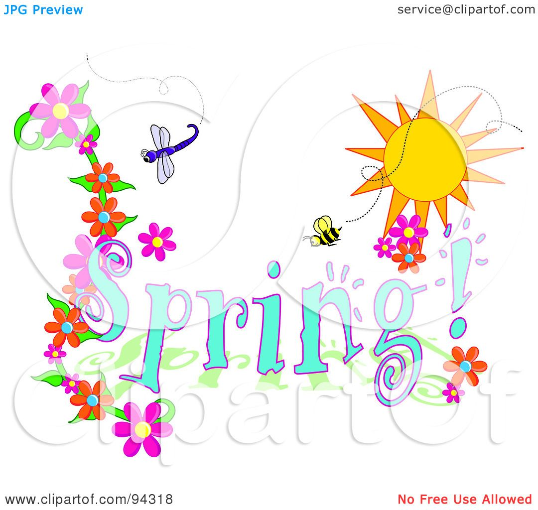 Royalty-Free (RF) Clipart Illustration of a Spring Time ...