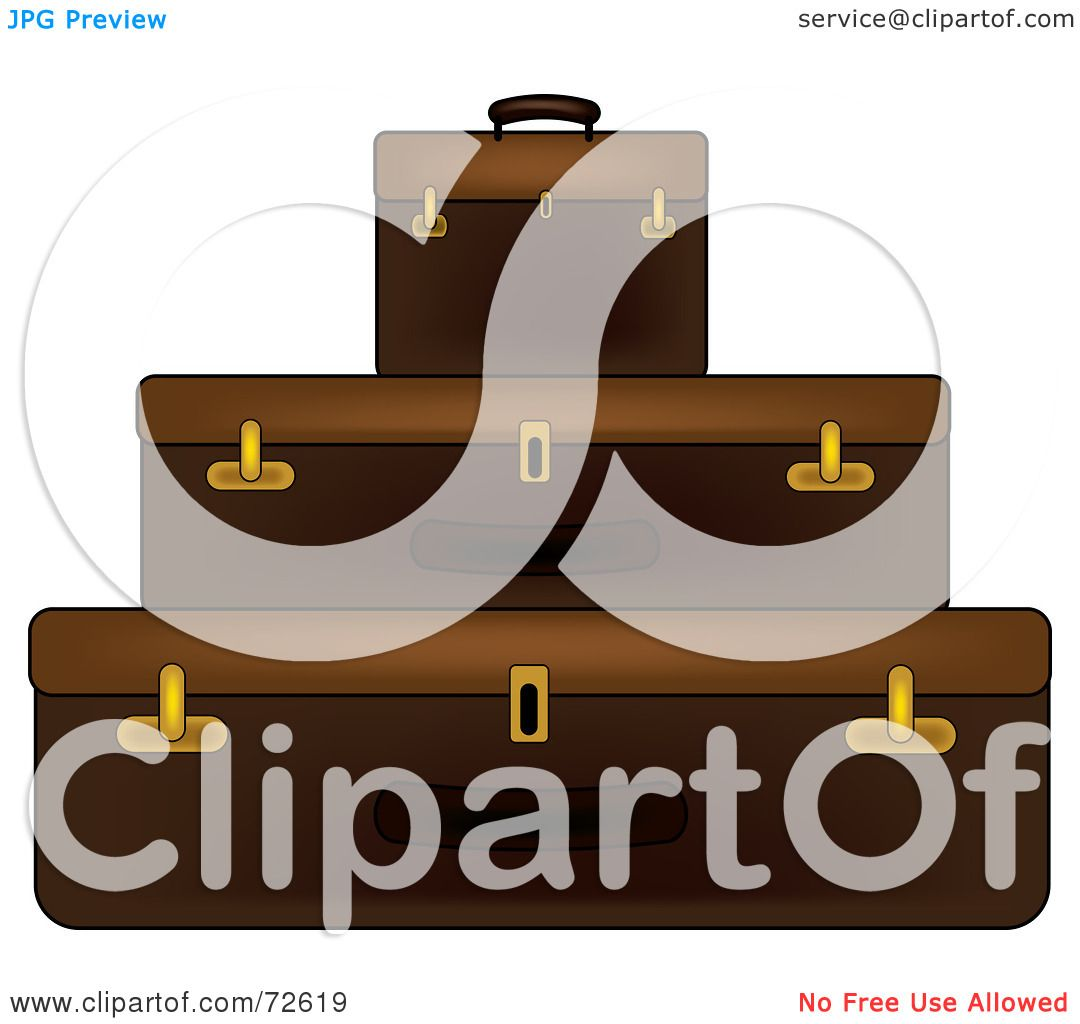 Stacked Suitcase Clip Art Free