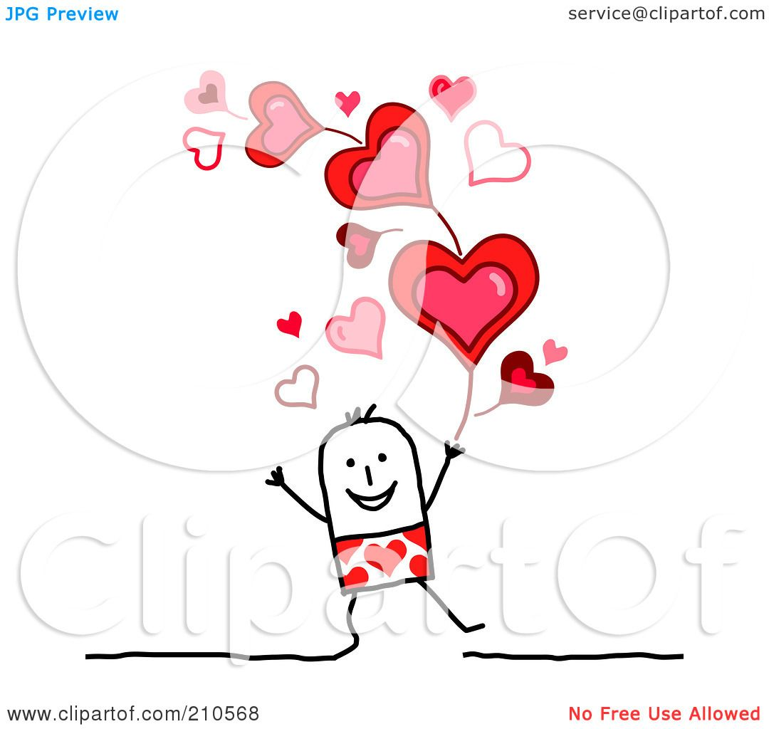 royalty free rf clipart illustration of a stick person man under
