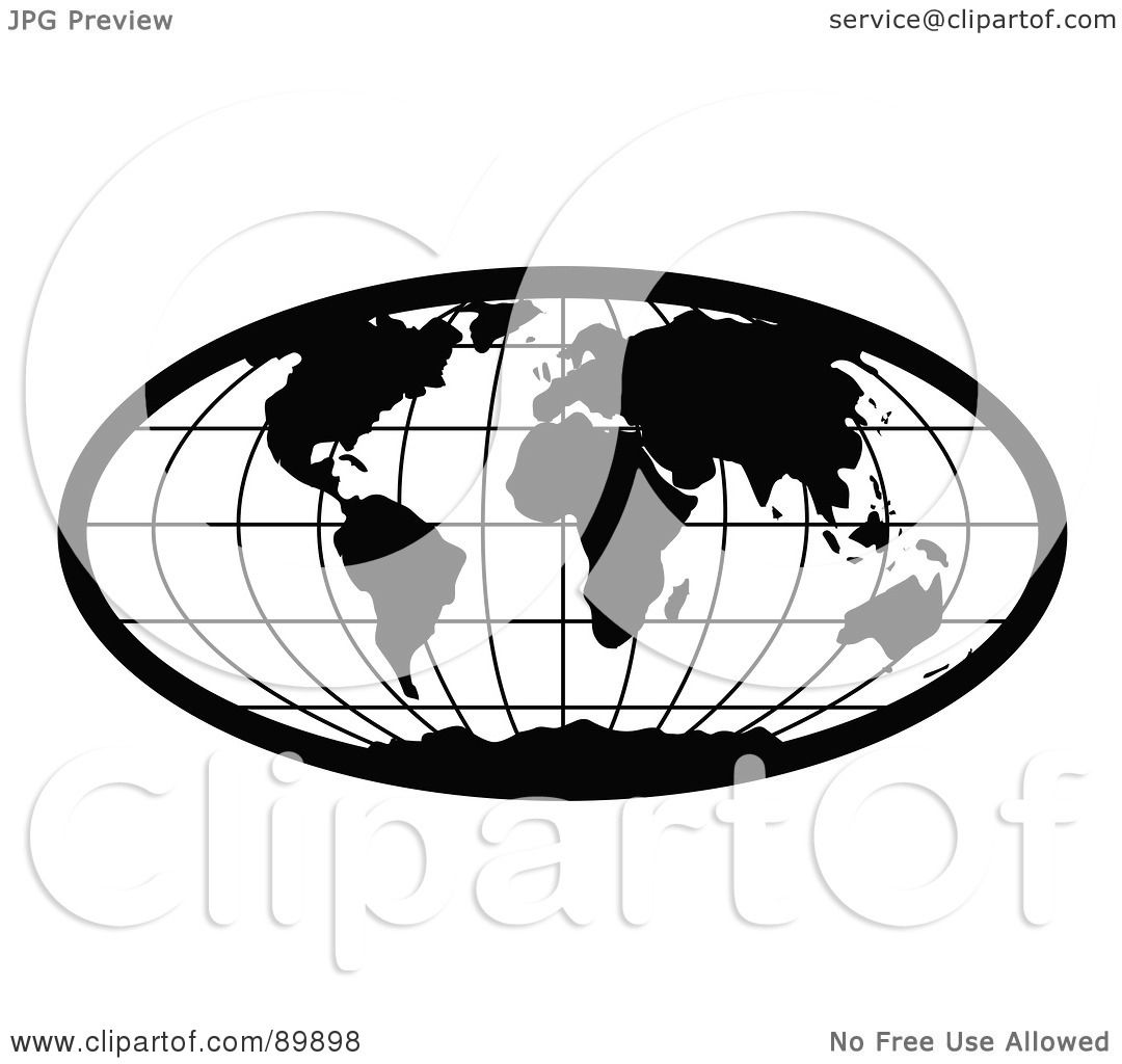 Royalty-Free (RF) Clipart Illustration of a Stretched Black Oval ...