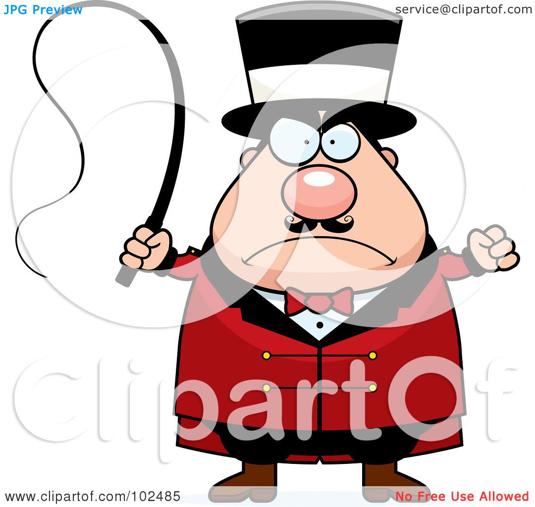 Royalty-Free (RF) Clipart Illustration of a Strict Chubby ...