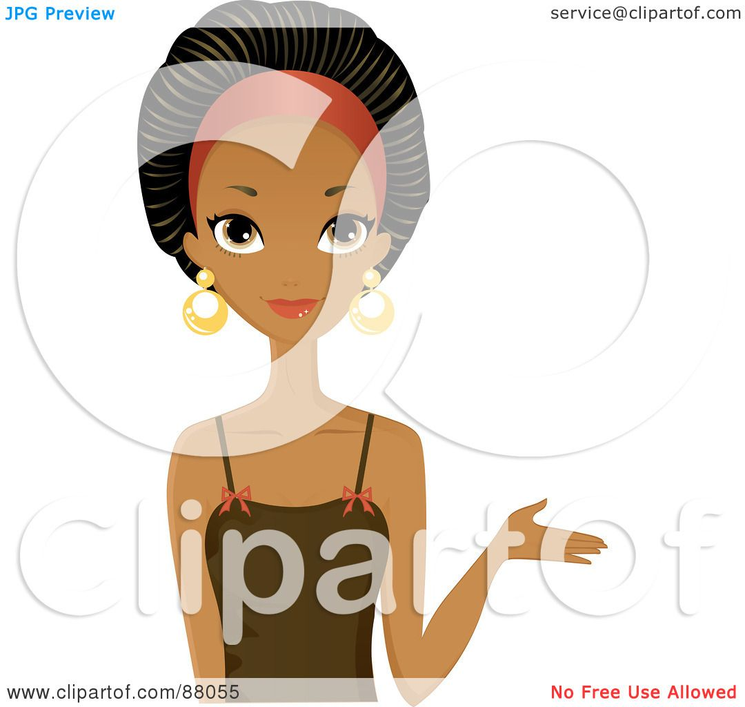 Royalty-Free (RF) Clipart Illustration of a Stunning Black Woman ...