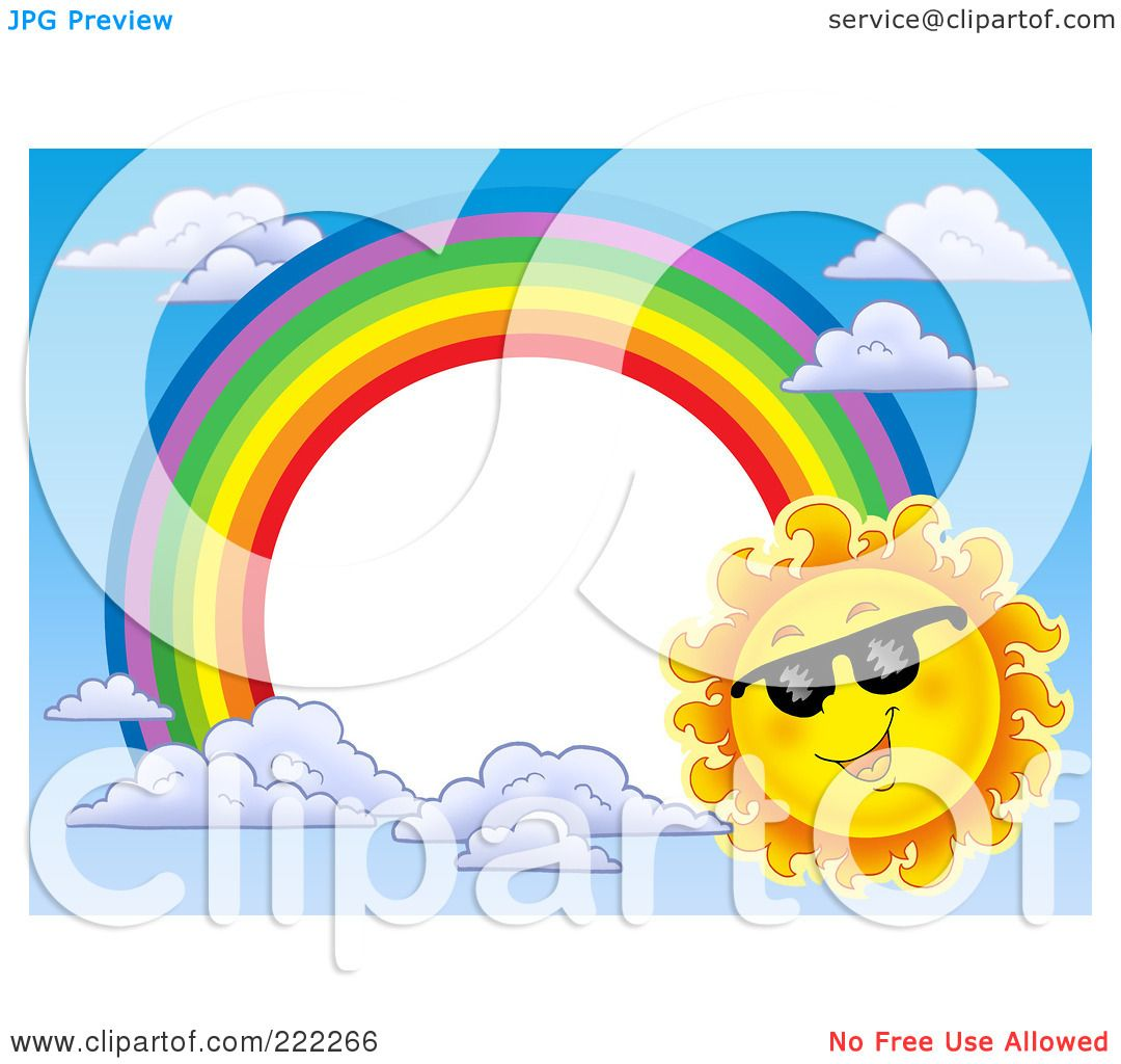 Royalty Free Rf Clipart Illustration Of A Sun And