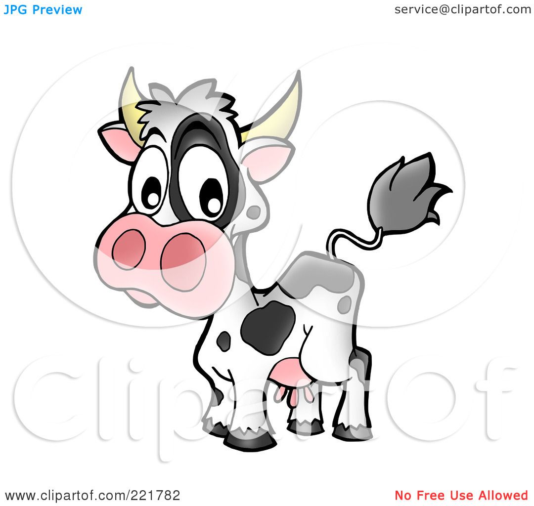 Royalty-Free (RF) Clipart Illustration of a Surprised Cow by ...