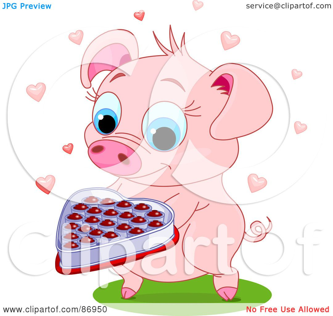 Royalty-Free (RF) Clipart Illustration of a Sweet Pig ...