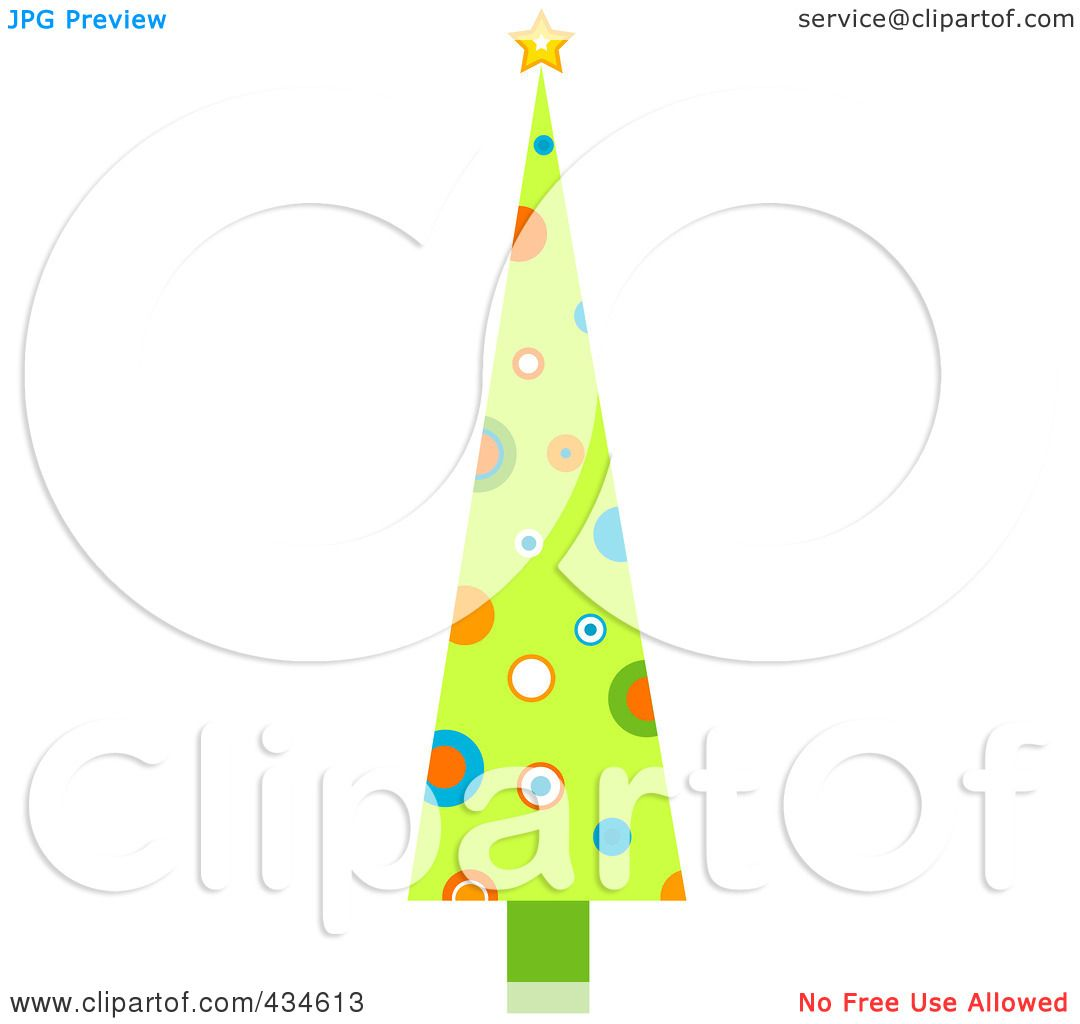 Tall Christmas Tree Clipart.Royalty Free Rf Clipart Illustration Of A Tall Retro
