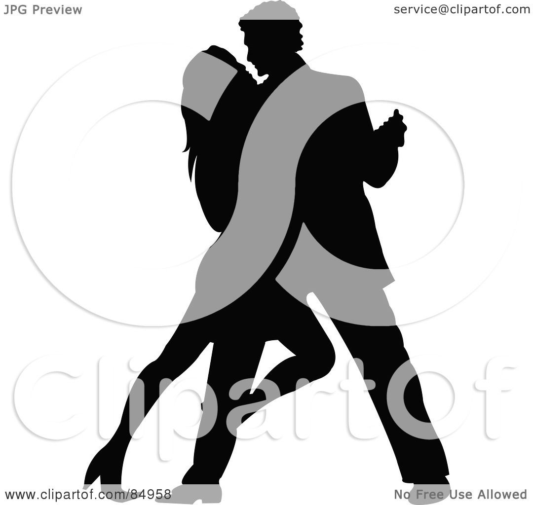 Royalty-Free (RF) Clipart Illustration of a Tango Dancing Couple ...