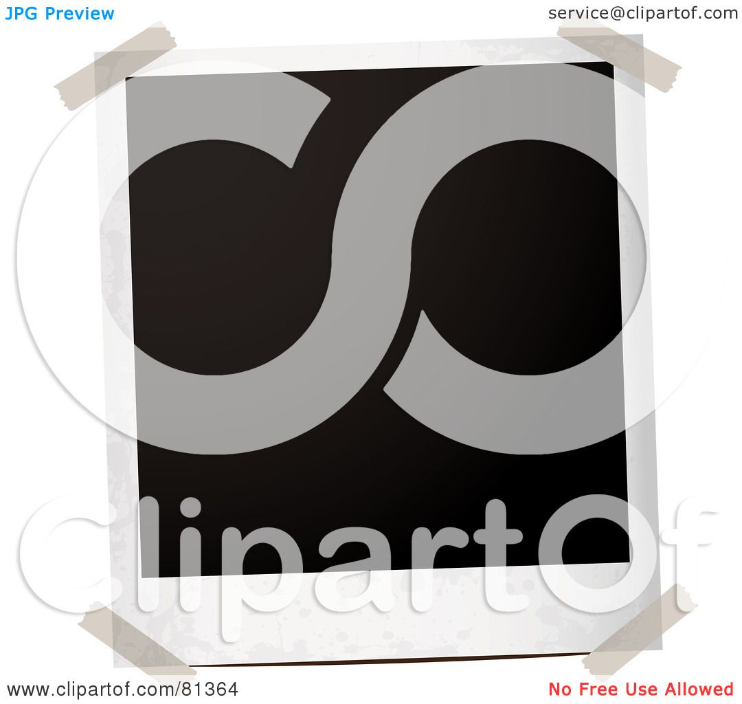 Royalty-Free (RF) Clipart Illustration of a Taped Blank Black ...
