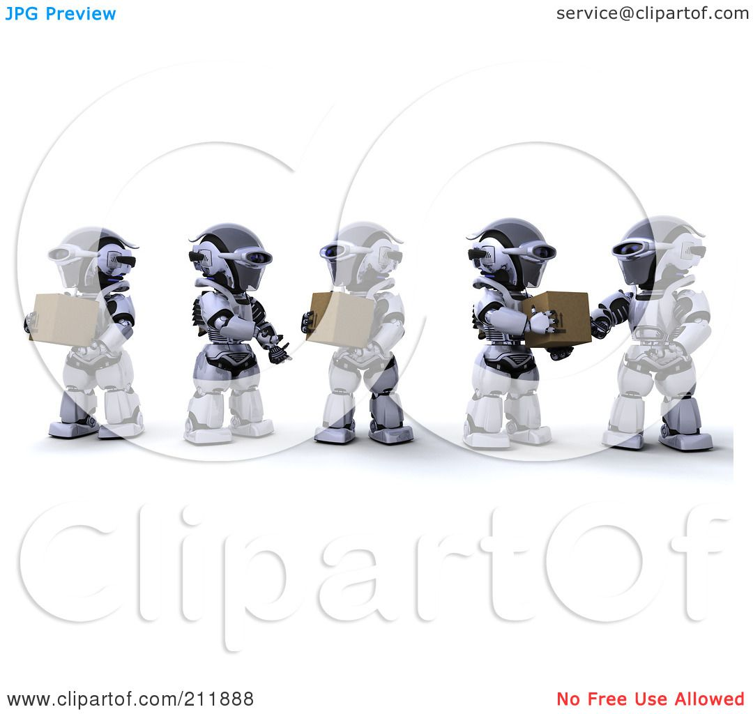 Royalty-Free (RF) Clipart Illustration of a Team Of 3d ...