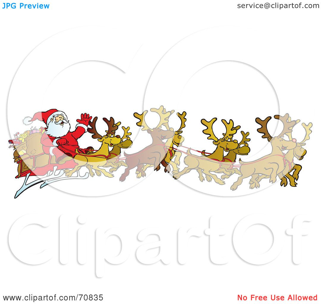 Royalty-Free (RF) Clipart Illustration of a Team Of Eight ...