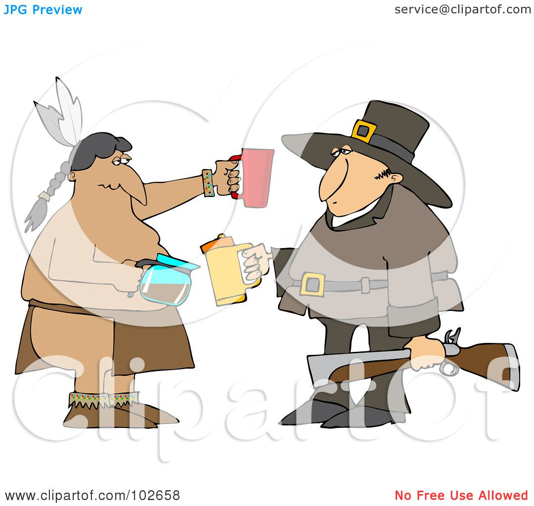 Thanksgiving Drinking: Royalty-Free (RF) Clipart Illustration Of A Thanksgiving