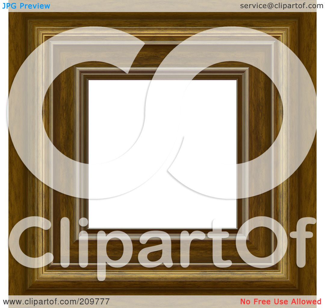 Royalty-Free (RF) Clipart Illustration of a Thick Fancy Wooden ...
