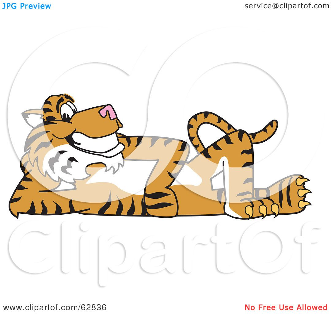 Royalty-Free (RF) Clipart Illustration of a Tiger Character School ...