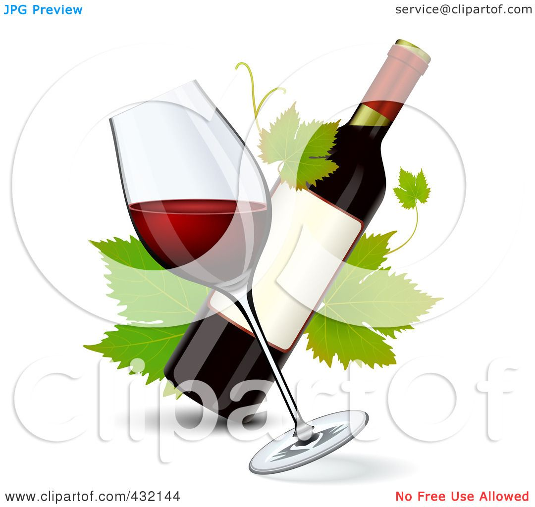 royalty free  rf  clipart illustration of a tilted glass wine clip art images wine clip art images free