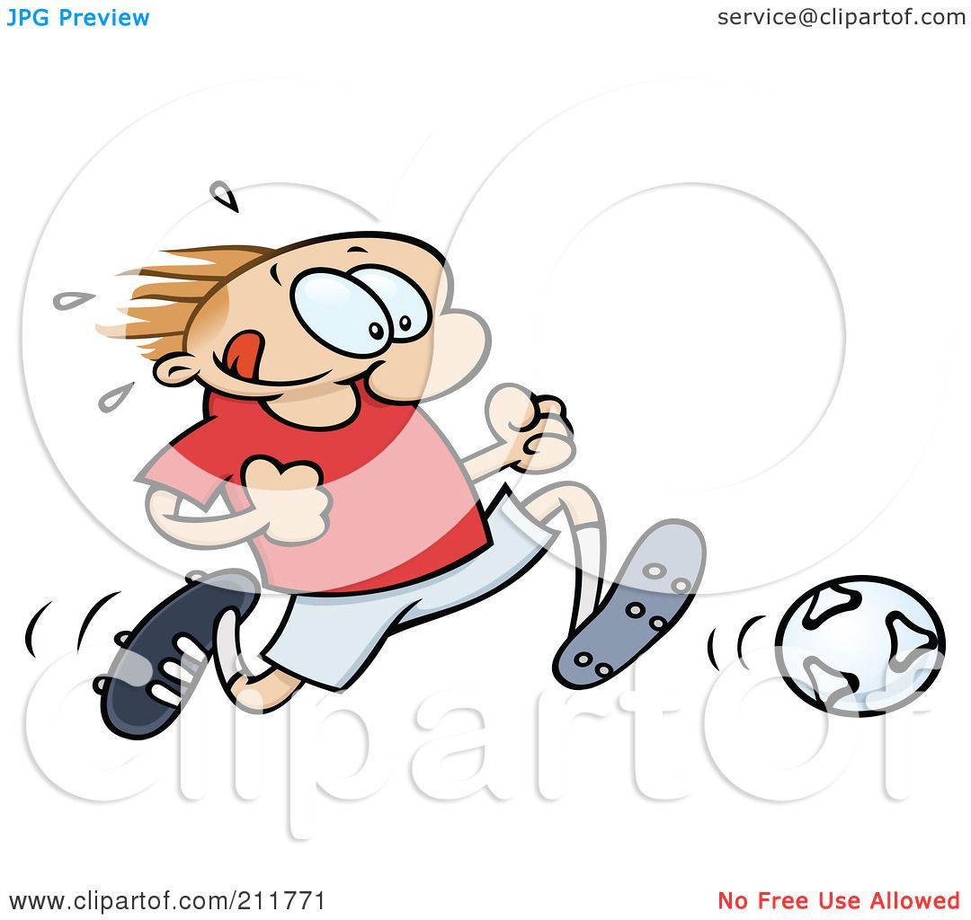 Royalty-Free (RF) Clipart Illustration of a Toon Guy Sweating And ...