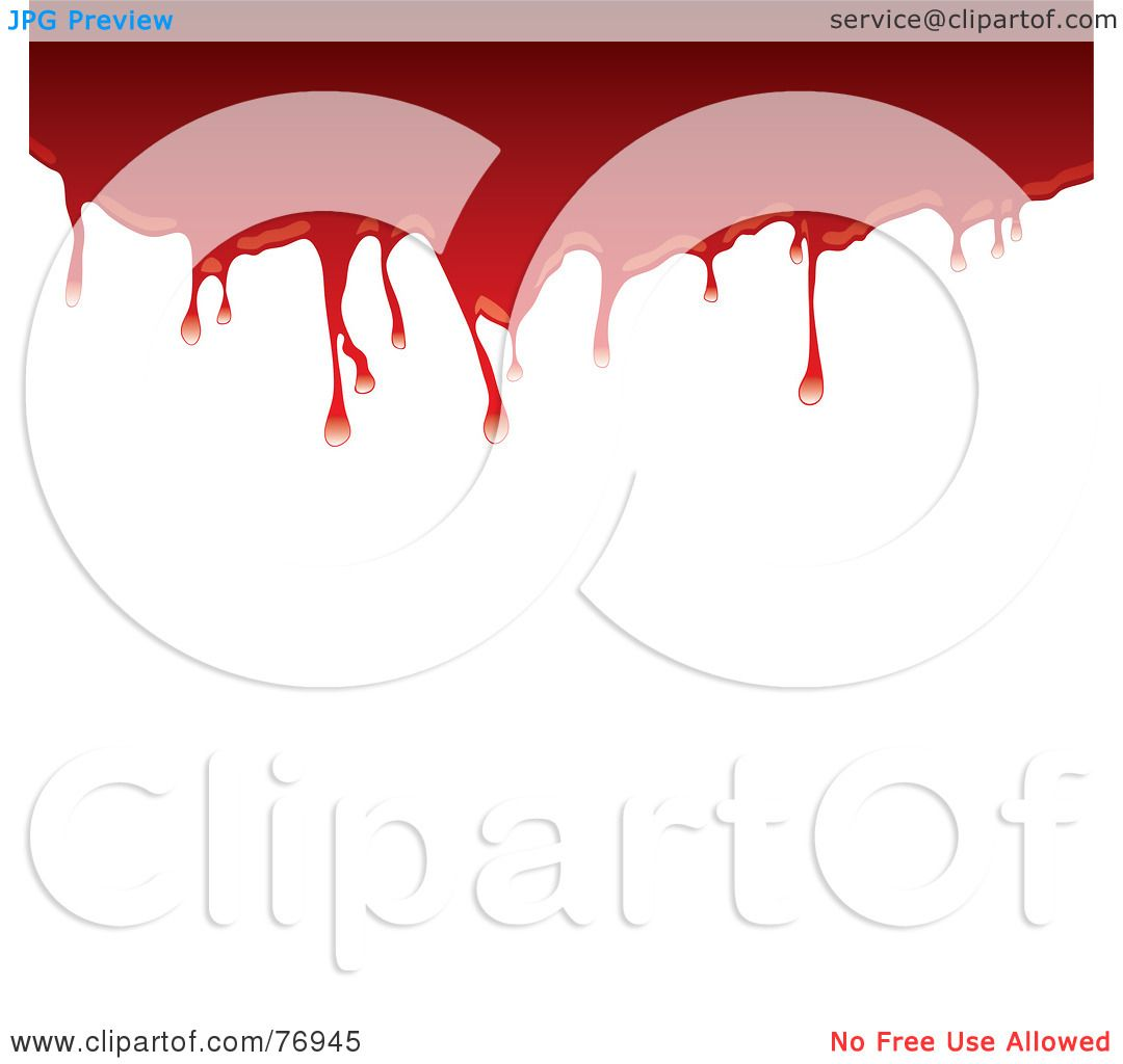 dripping blood clipart border free - photo #23