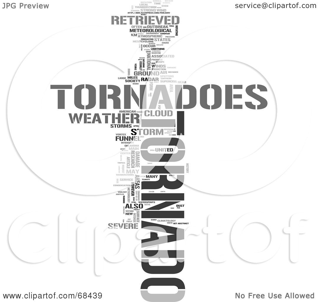Royalty Free Rf Clipart Illustration Of A Tornado Word