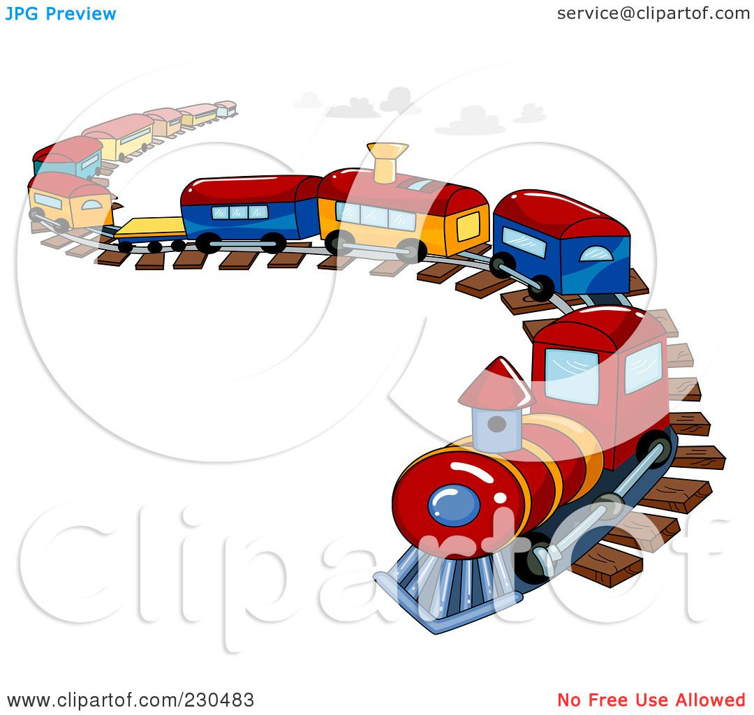 Toy Train Graphics : Royalty free rf clipart illustration of a toy train on
