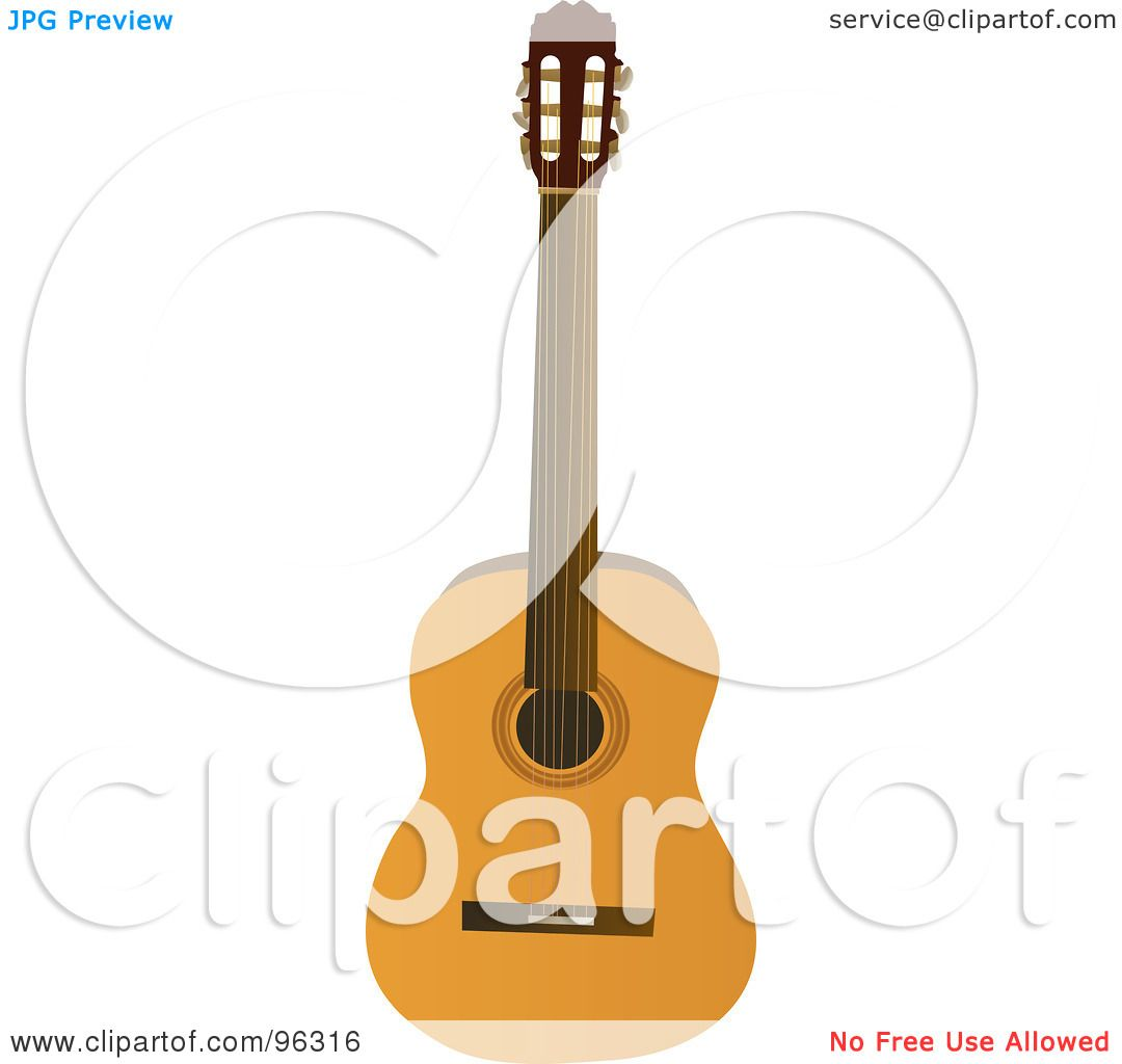 Royalty-Free (RF) Clipart Illustration of a Traditional Acoustic ...