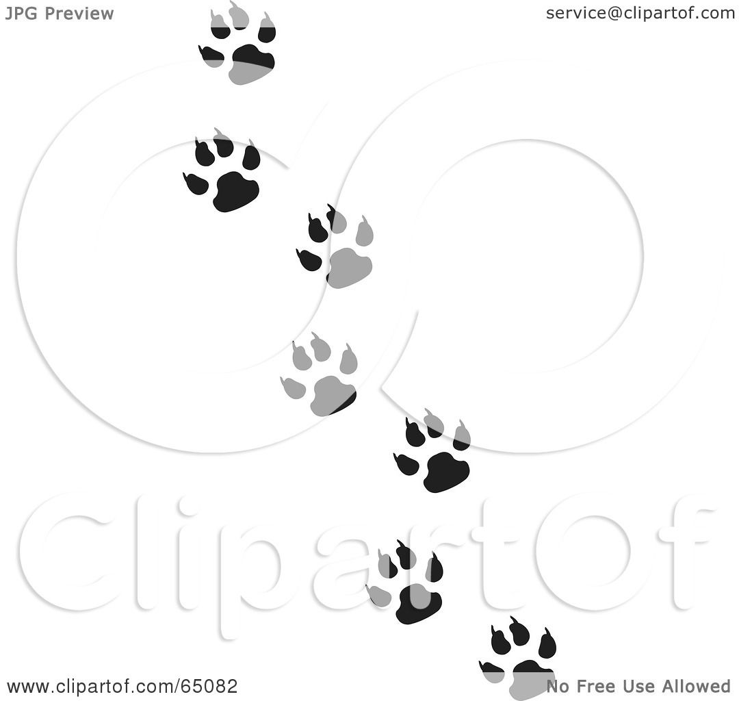 Royalty-Free (RF) Clipart Illustration of a Trail Of Black And ...