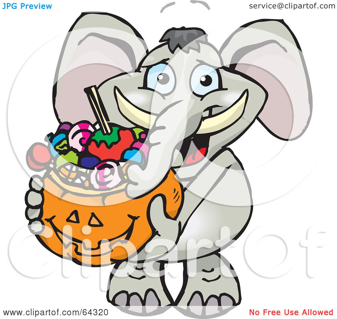 Royalty-Free (RF) Clipart Illustration of a Trick Or ...