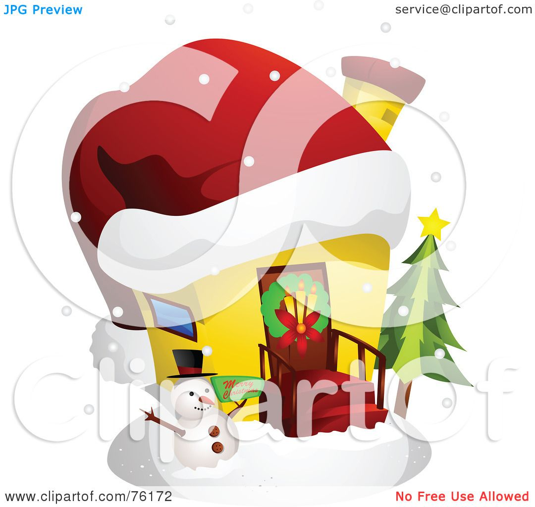Royalty free rf clipart illustration of a unique for Cool christmas art