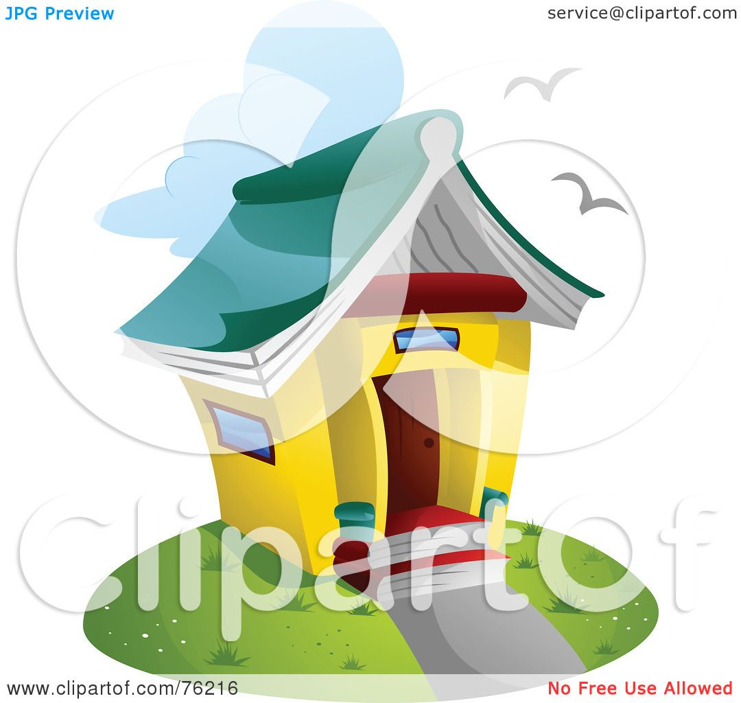 Royalty-Free (RF) Clipart Illustration of a Unique Library ...