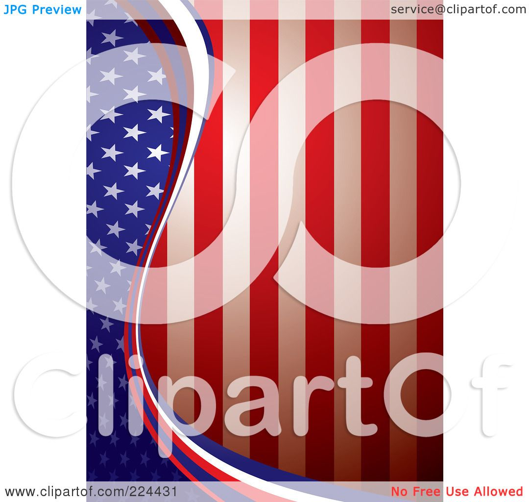 Royalty-Free (RF) Clipart Illustration of a Vertical American ...