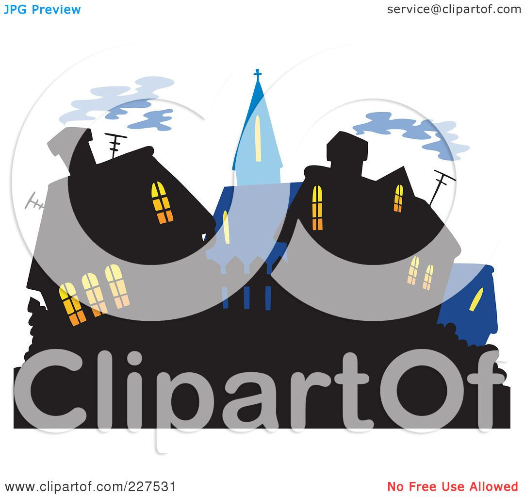 Royalty Free RF Clipart Illustration Of A Village