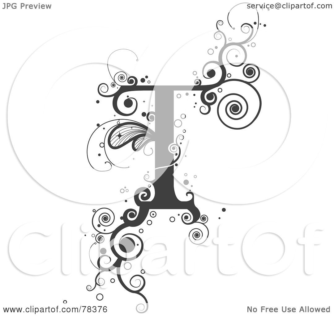 Royalty-Free (RF) Clipart Illustration of a Vine Alphabet ...