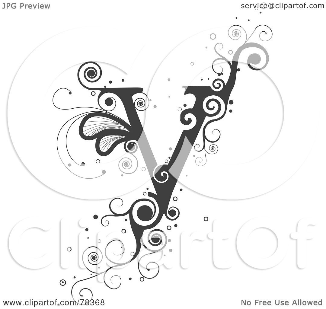Royalty-Free (RF) Clipart Illustration Of A Vine Alphabet