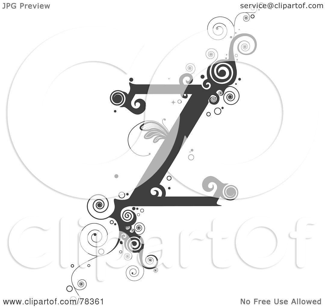 Royalty-Free (RF) Clipart Illustration Of A Vine Alphabet