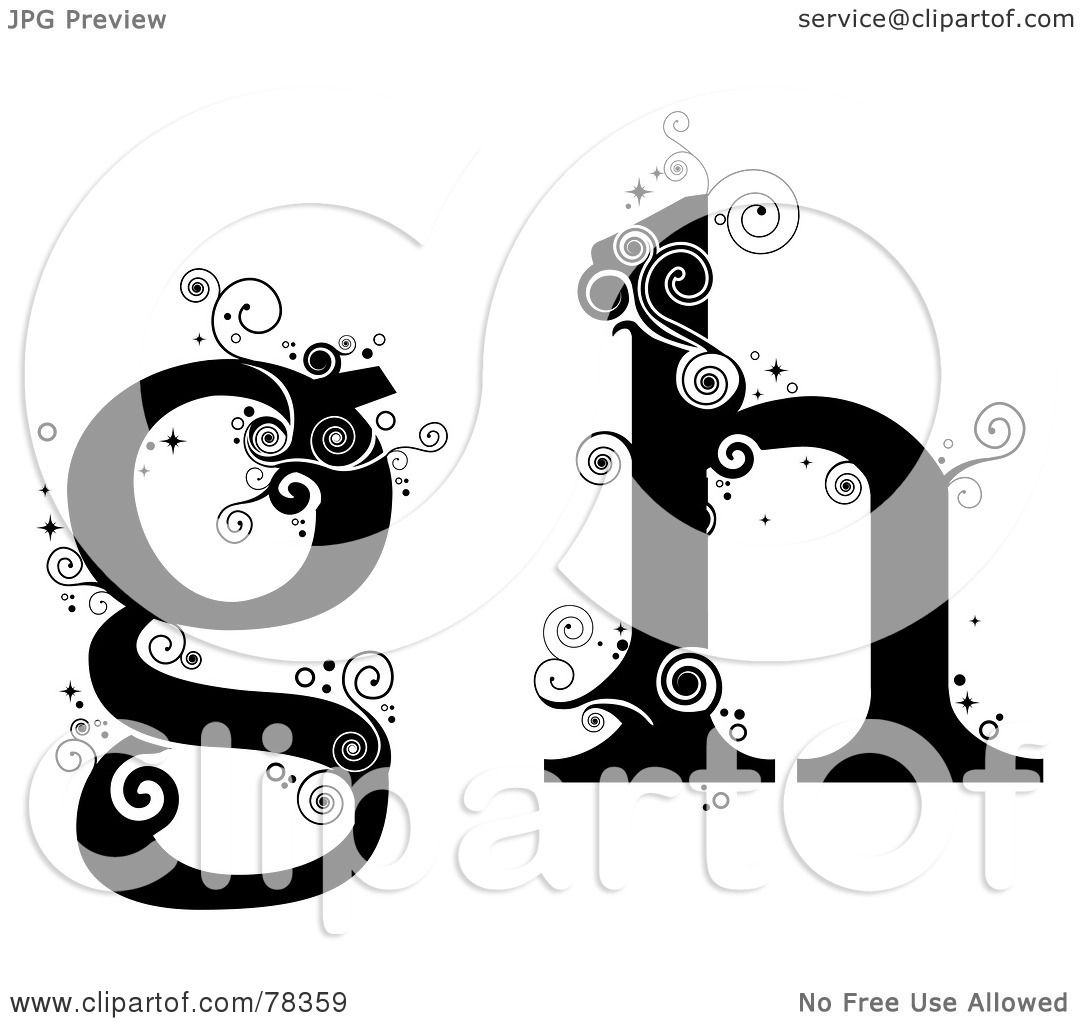 RoyaltyFree RF Clipart Illustration of a Vine Alphabet