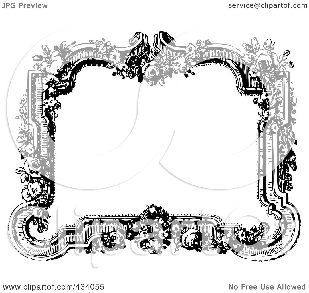 Royalty-Free (RF) Clipart Illustration of a Vintage Black And ...