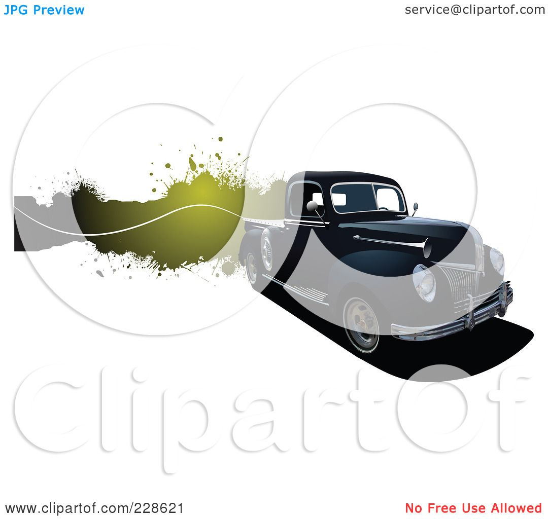 Green truck clipart royalty free rf pickup truck clipart - Royalty Free Rf Clipart Illustration Of A Vintage Pickup Truck Grunge Banner By Leonid