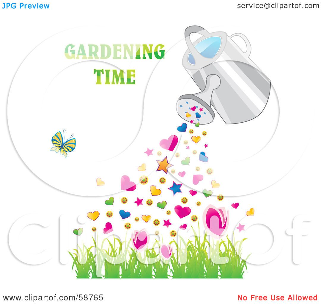 Royalty-Free (RF) Clipart Illustration of a Watering Can ...