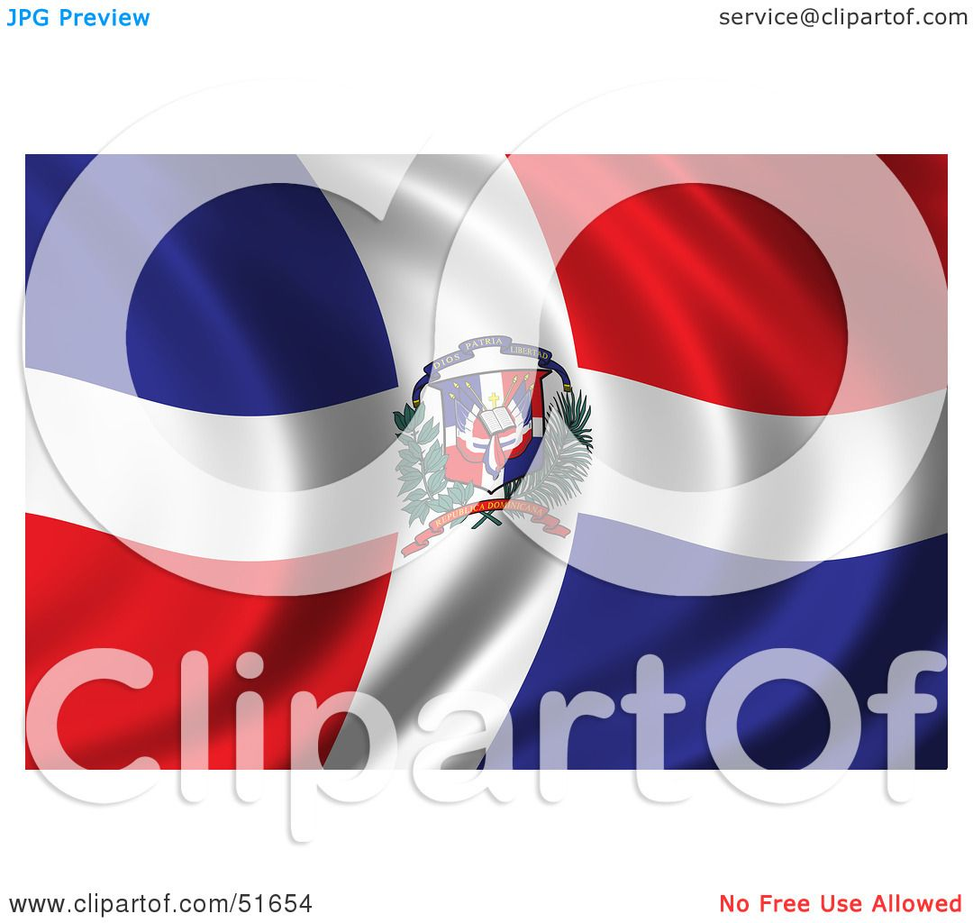 Royalty Free Rf Clipart Illustration Of A Wavy Dominican