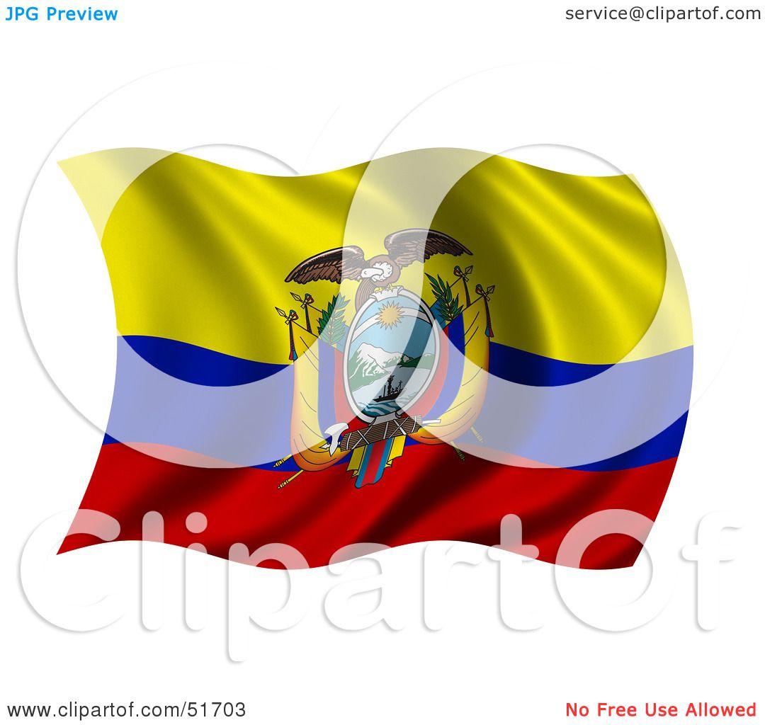 royalty free rf clipart illustration of a wavy ecuador flag by