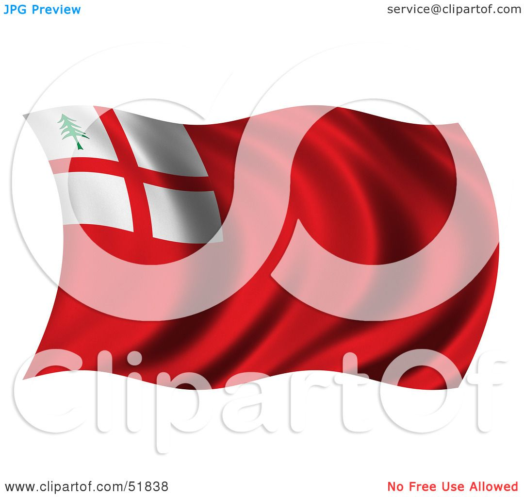 Royalty-Free (RF) Clipart Illustration of a Wavy New England Flag ...