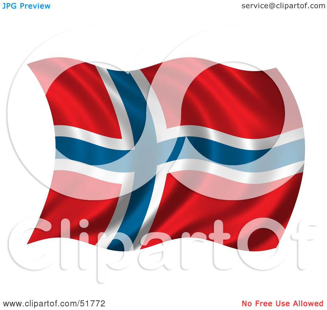 royalty free rf clipart illustration of a wavy norway flag