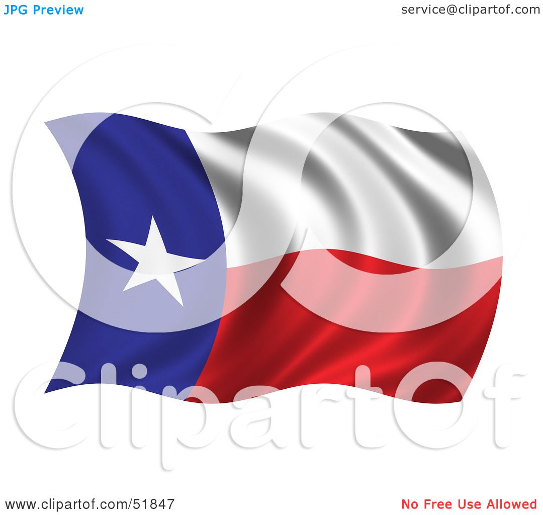 Royalty-Free (RF) Clipart Illustration of a Wavy Texas State Flag ...