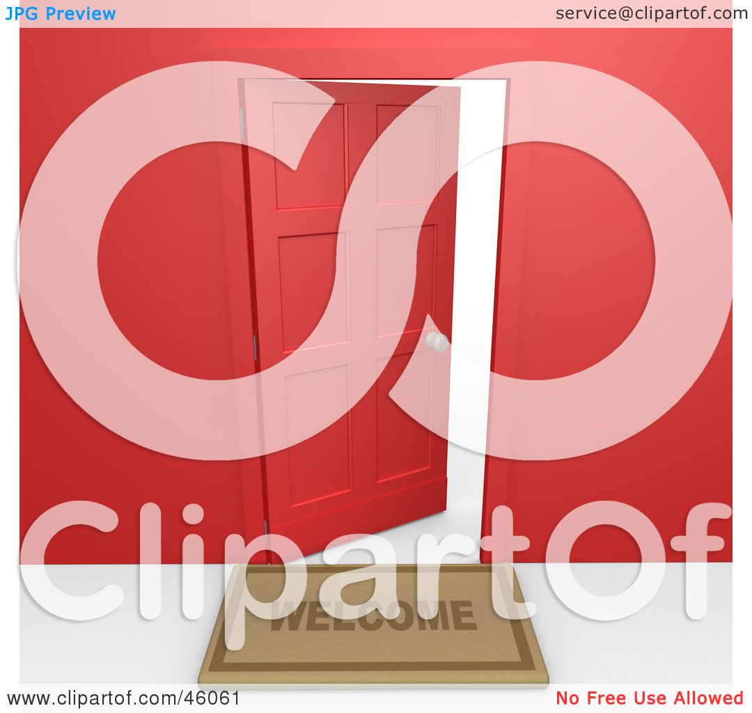Front door clipart - Royaltyfree Rf Clipart Of Open Doors Illustrations Vector