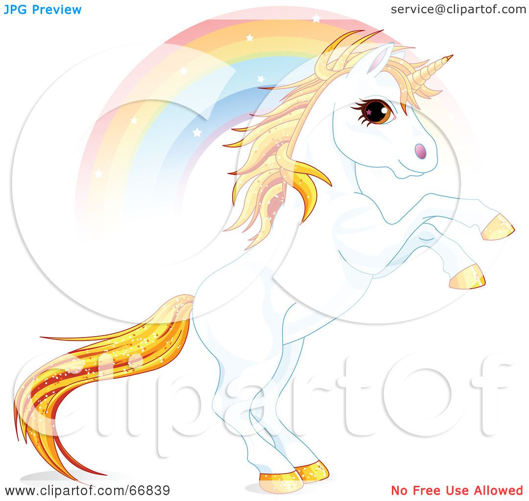 Royalty-Free (RF) Clipart Illustration of a White And Gold ...