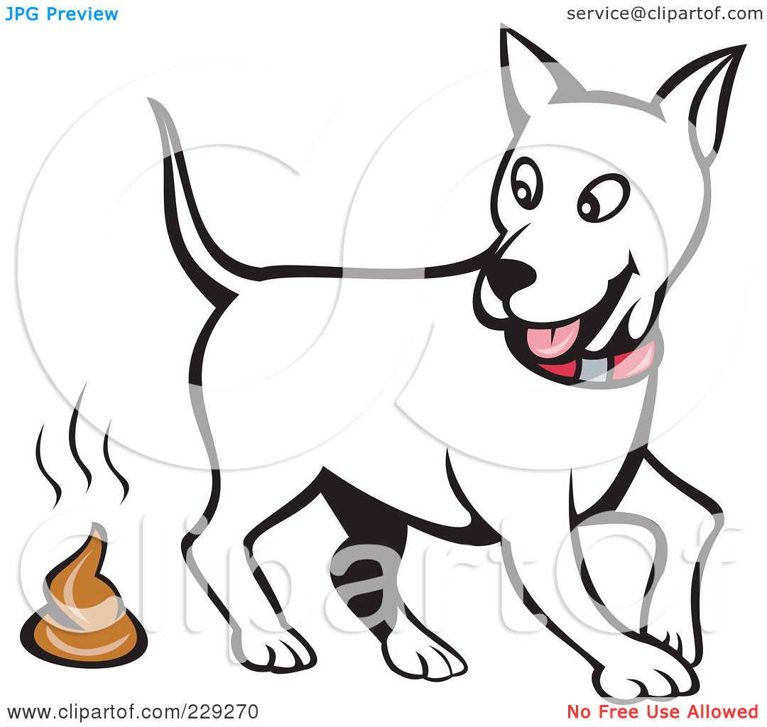 Royalty-Free (RF) Clipart Illustration of a White Dog Walking Away ...