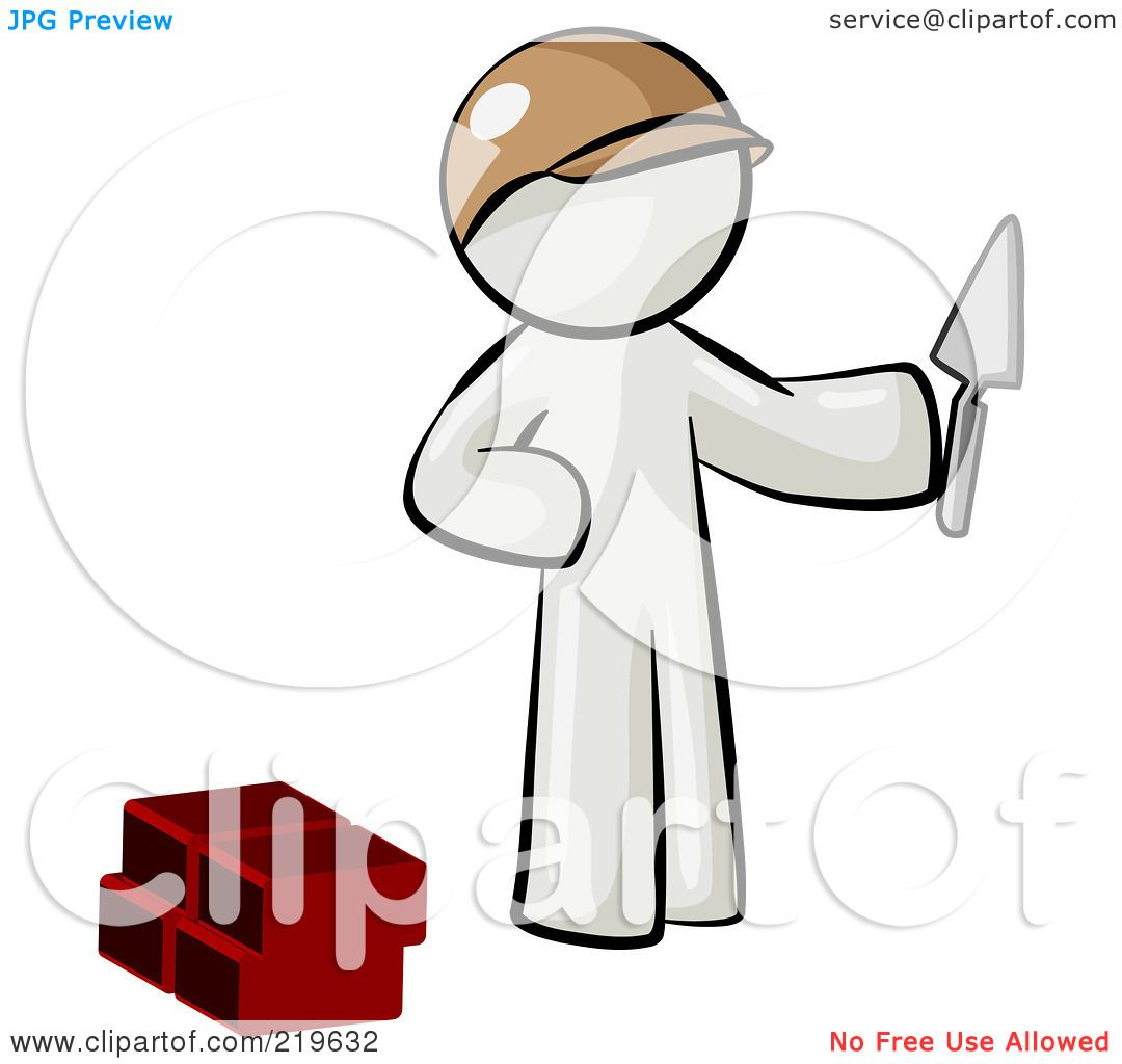 Illustrations Of A Trowel : Royalty free rf clipart illustration of a white man