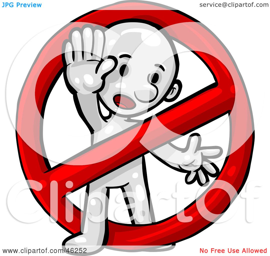Royalty-Free (RF) Clipart Illustration Of A White Smartoon