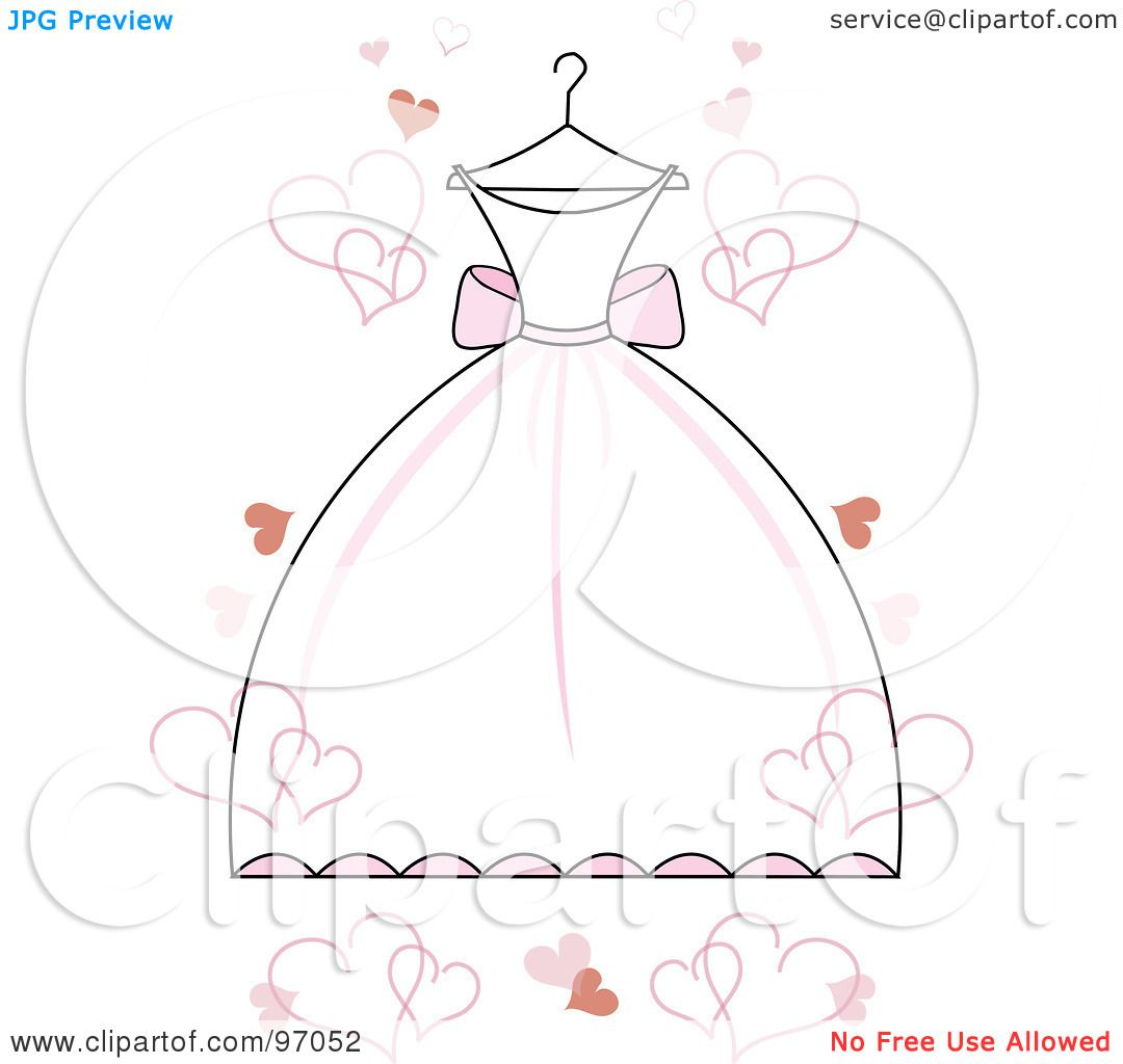 Wedding Gown Illustrations: Royalty-Free (RF) Clipart Illustration Of A White Wedding