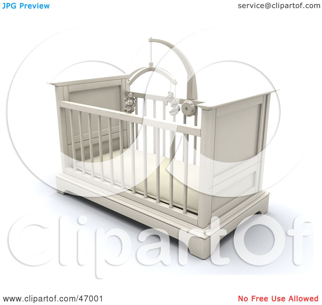 Baby cribs for free - Royalty Free Rf Clipart Illustration Of A White Wooden Baby Crib In A Nursery With A Teddy Bear Mobile By Kj Pargeter