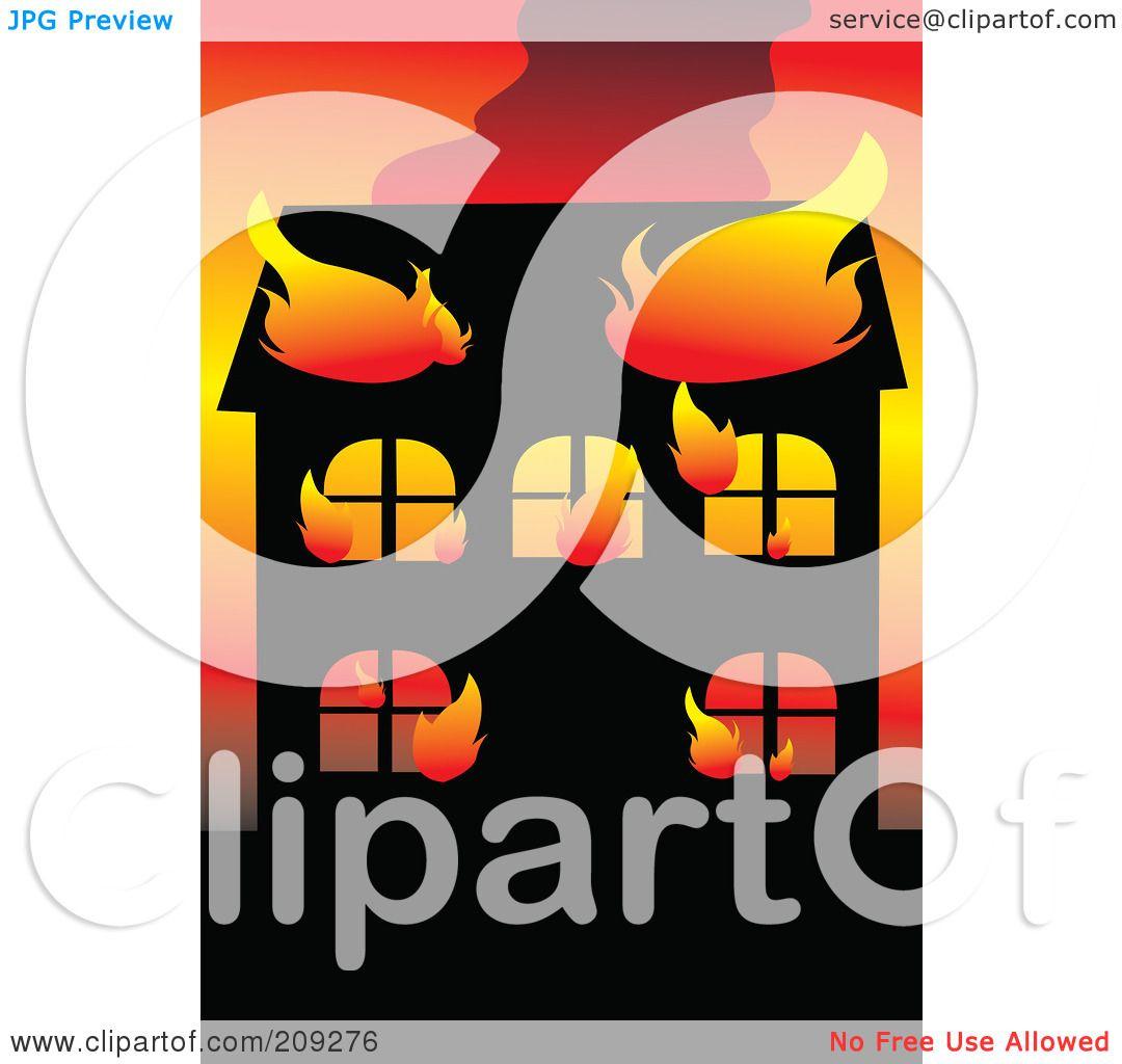 clipart burning house - photo #41