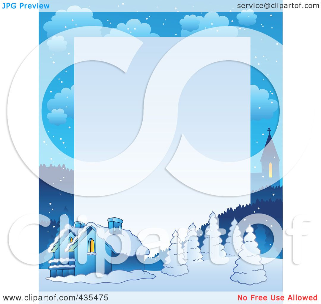 Royalty Free RF Clipart Illustration Of A Winter Village